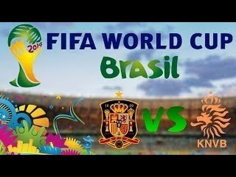 Spain 1 x 5 Netherlands - Goals - World Cup 2014 13/06/2014