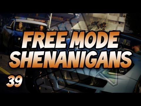 The Cops Just Won't Leave Us Alone! (GTA V Free Mode Shenanigans #39),