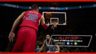 NBA 2K13: All New Controls Trailer How To Self Alley Oop