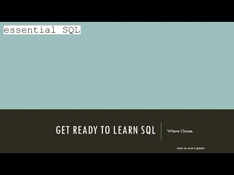 Learning SQL Tutorial - Part 12 -- Where Clause -- Boolean Logic with OR and NOT