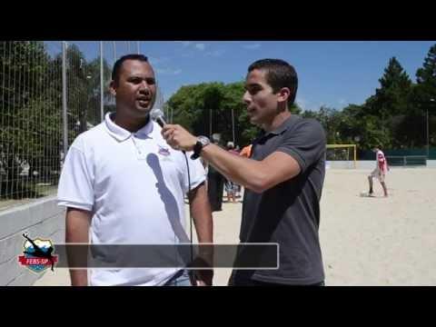 Alexandre Soares, técnico quatro vezes campeão mundial pela Seleção Brasileira de Beach Soccer, ministrou aulas teóricas e práticas do Curso de Formação de Treinadores de Beach Soccer.