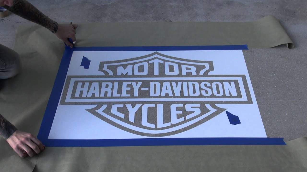 Harley Stencil Part 2 By Draygon  YouTube