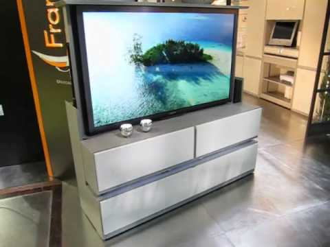 Meuble tv cran plat escamotable t l command fran ois desile youtube - Meuble television ecran plat ...