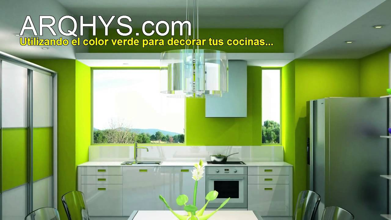 Decorando tu cocina de color verde youtube for Colores para cocina comedor
