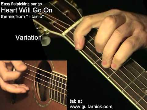 Heart Will Go On - TITANIC, how to play on acoustic guitar, lesson + TAB!