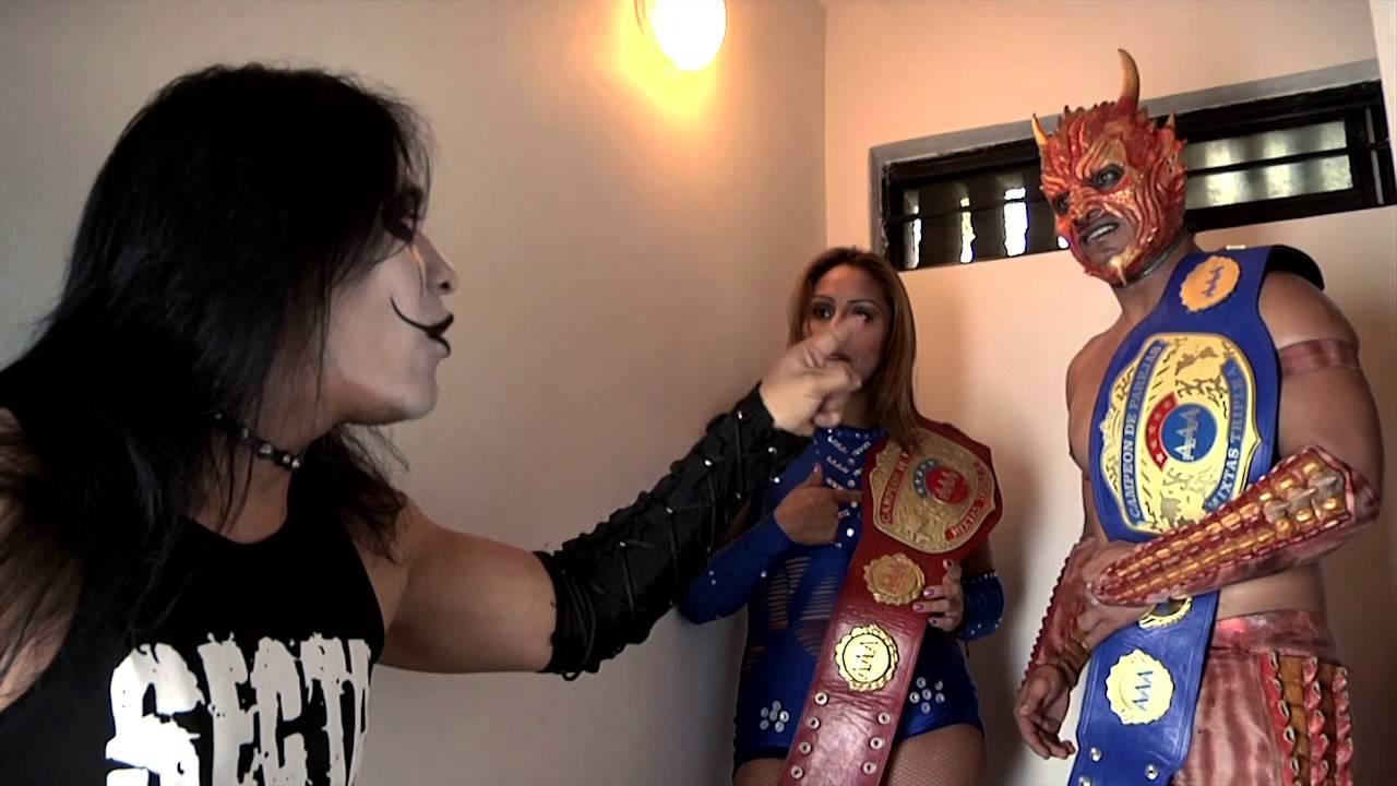 Faby Apache, Cuervo y Drago - Backstage AAA Sin Límite ...