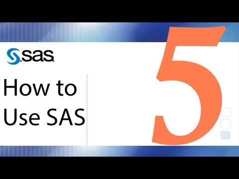 How to Use SAS - Lesson 5 - Data Reduction and Data Cleaning
