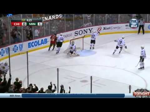 Matt Cooke Goal : Minnesota Wild v Chicago Blackhawks