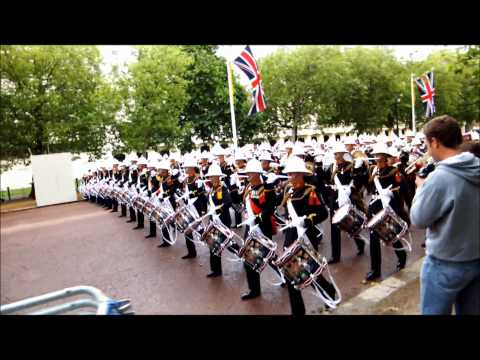 Massed Bands of H.M. Royal Marines 07-06-12 The Mall