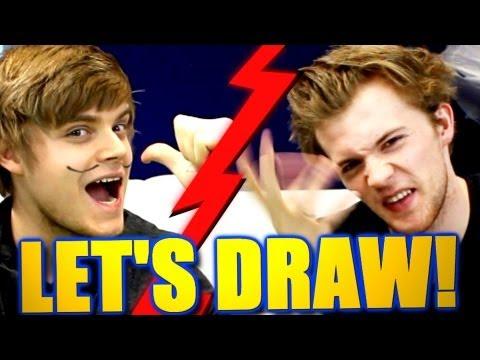 iBlali malt LeFloid?! - Let's Draw