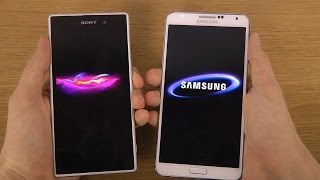 Sony Xperia Z1 Vs. Samsung Galaxy Note 3 Android 4.3