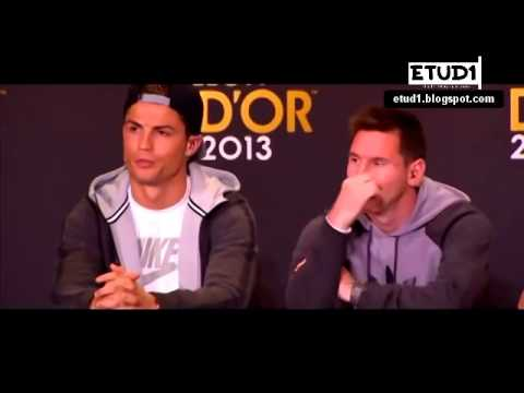 Ronaldo and Messi funny moment at Ballon d'Or press conference