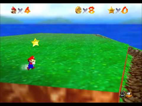 Super Mario 64 - Catching the first 5 stars! Bomb-Omb Battlefield! - User video