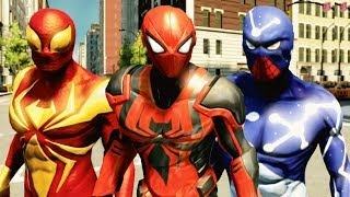 The Amazing Spider Man 2 All DLC Suits & Showcasing With