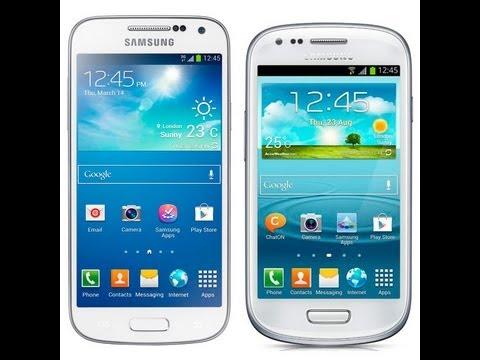 Samsung s3 mini y s4 mini pequeña comparativa visual de tamaño bateria...