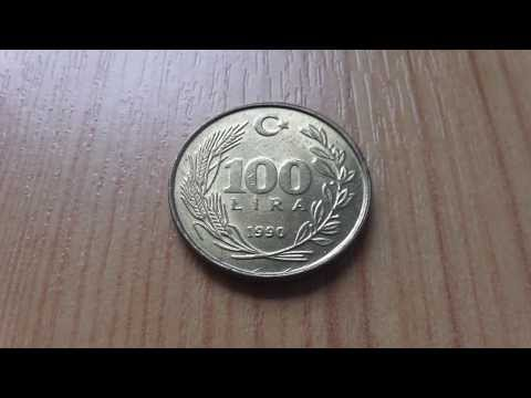 Turkey money - The 100 Lira coin from 1990 in HD