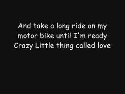 lyrics crazy little thing called: