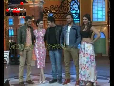 Saif, Riteish, Tamanna, Esha Gupta & Sajid Khan at the Promotion of ''Humshakal'' at 'Hasee House''1