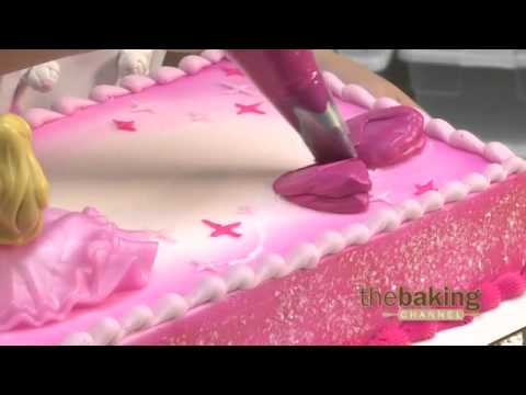 Flat Decorated Barbie Cake