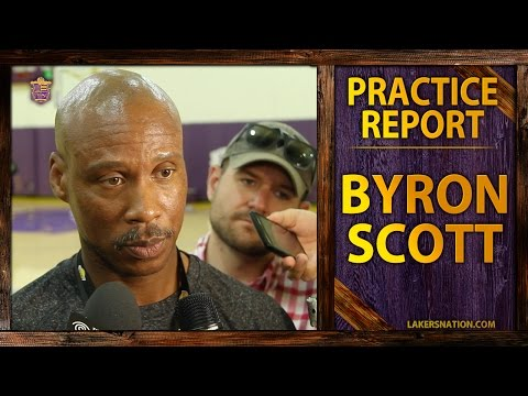 Lakers Practice: Byron Scott Jokes About Wiping Off Nick Young's Smile