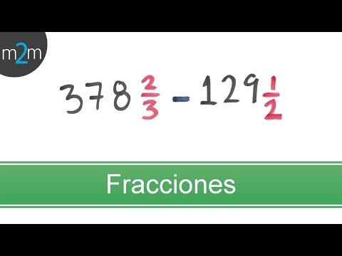 Fraccion mixta 378 2/3 - 129 1/2