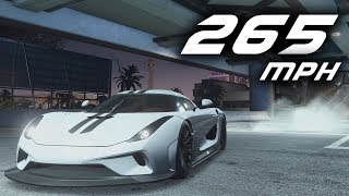 Need For Speed Payback Fastest Car  Mph Koenigsegg Regera Fully Upgraded