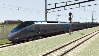 Train Simulator 2013 Game Play Amtrak Acela Express The