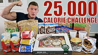 25,000 CALORIE CHALLENGE   Epic Cheat Day   Man vs Food