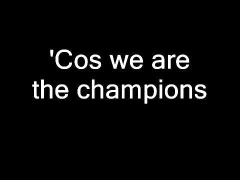 Queen - We Are The Champions (Lyrics)