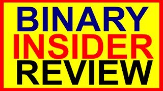 The Binary Insider Review-Binary Option Trading Signal
