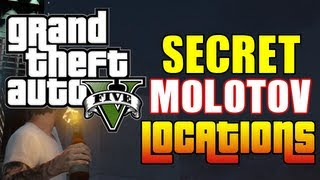 GTA 5 SECRET MOLOTOV LOCATIONS! (GTA5 Molotov Cocktails