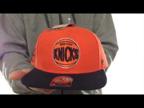 Knicks 'SURE-SHOT SNAPBACK' Orange-Black Hat by Twins 47 Brand