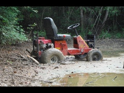 Off Road Yazoo Mower- Trying to Cross the Mud Pond