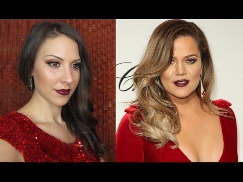 Khloey Kardashian Oscars party makeup 2014
