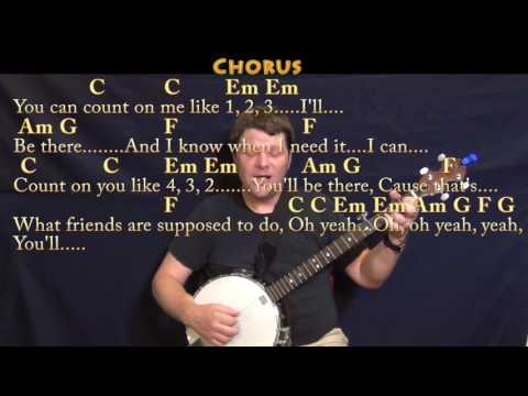 Count on Me (Bruno Mars) Banjo Cover Lesson in C with Chords/Lyrics