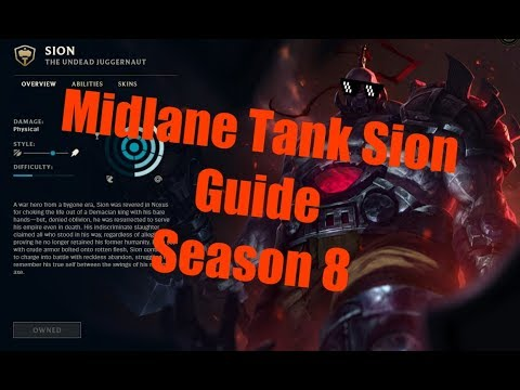 Sion Midlane Guide Season 8 [German/Deutsch] League of Legends