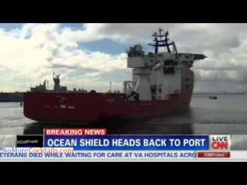 Ocean Shield returning to port after Bluefin-21 is damaged and search for Flight 370 comes to a halt