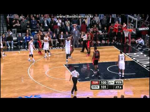 2014.01.27 Toronto Raptors vs Brooklyn Nets (Last 40 Seconds Highlight)