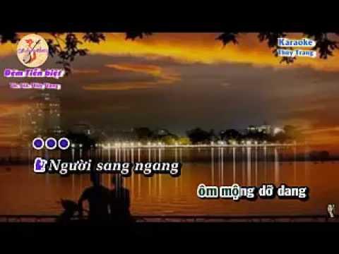 Karaoke vọng cổ ĐÊM TIỄN BIỆT thiếu kép