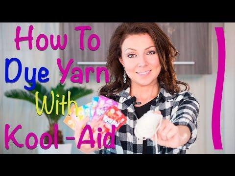 How to Dye Yarn with Kool-Aid