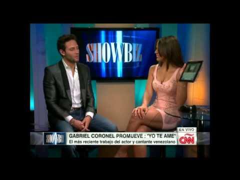 Entrevista al Cantante y Actor Venezolano Gabriel Coronel en CNN (showbiz)