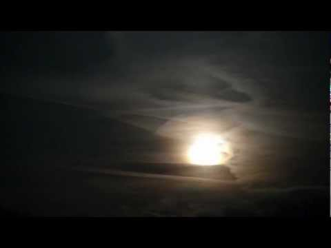 Dark Clouds with Moon Rising, Excitement, Drums, Suspense, HD time lapse