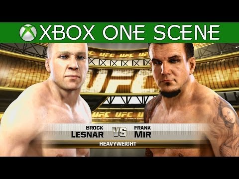 Brock Lesnar vs Frank Mir - EA Sports UFC 2014 gameplay - Full Fight - XBOX ONE