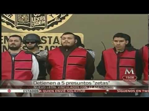 5 Zetas detenidos en Anahuac NL; se les vincula con 22 asesinatos 27Dic2012