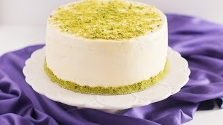 Pistachio Cake with Honey Vanilla Buttercream