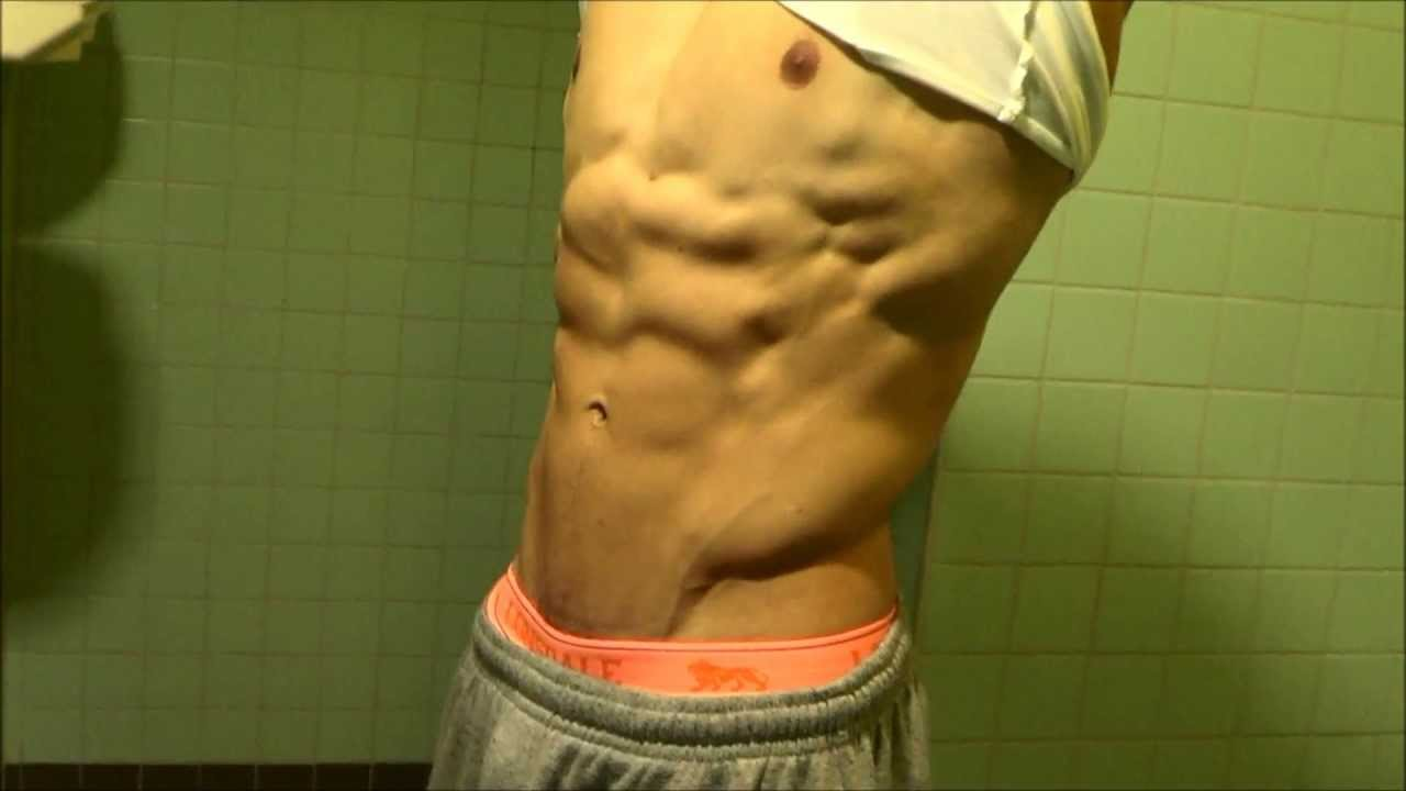 Flexing Abdominals - 6 pack abs ripped lean Full HD 1080p