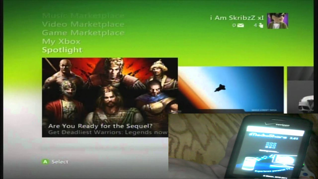 how to play music on your xbox 360