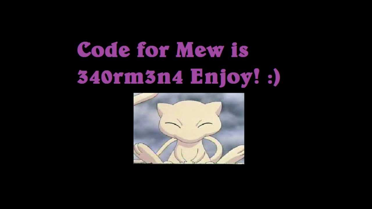 Pokemon X And Y Mew Mystery Gift Codes | Apps Directories