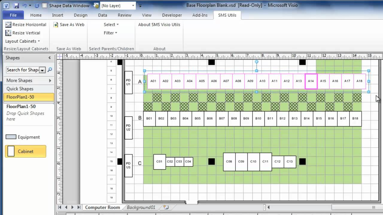 using visio to draw data center floor plans quickly and
