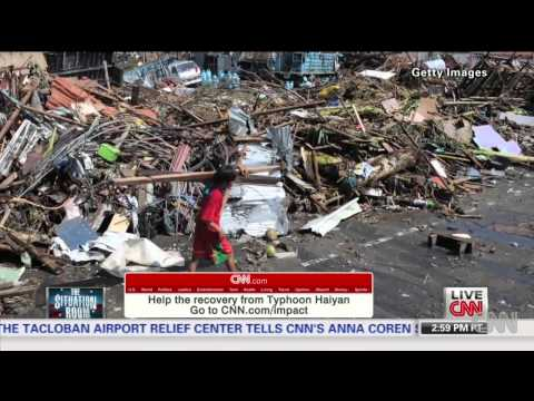 Typhoon leaves town in ruins